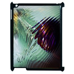 Out Of Time Glass Pearl Flowag Apple Ipad 2 Case (black)
