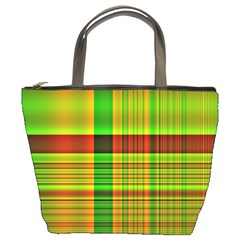 Multicoloured Background Pattern Bucket Bags by Nexatart