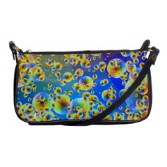 Color Particle Background Shoulder Clutch Bags by Nexatart