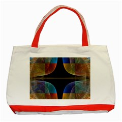 Black Cross With Color Map Fractal Image Of Black Cross With Color Map Classic Tote Bag (red)