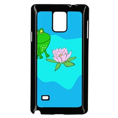 Frog Flower Lilypad Lily Pad Water Samsung Galaxy Note 4 Case (black) by Nexatart