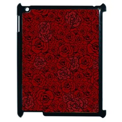 Red Roses Field Apple Ipad 2 Case (black) by designworld65