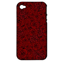 Red Roses Field Apple Iphone 4/4s Hardshell Case (pc+silicone) by designworld65