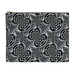 Metallic Mesh Pattern Cosmetic Bag (xl) by linceazul