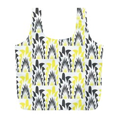 Tricolored Geometric Pattern Full Print Recycle Bags (l)  by linceazul