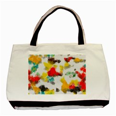 Colorful Paint Stokes           Basic Tote Bag