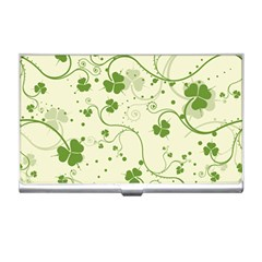 Flower Green Shamrock Business Card Holders by Mariart