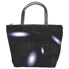 Galaxy Planet Space Star Light Polka Night Bucket Bags by Mariart