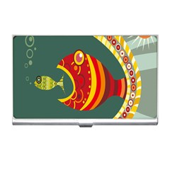 Fish Predator Sea Water Beach Monster Business Card Holders by Mariart