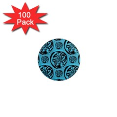 Turquoise Pattern 1  Mini Magnets (100 Pack)  by linceazul