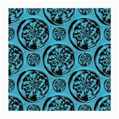 Turquoise Pattern Medium Glasses Cloth (2 Side) by linceazul