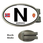 N - Norway Euro Oval Money Clip (Oval)