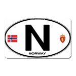 N - Norway Euro Oval Magnet (Rectangular)