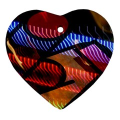 Graphic Shapes Experimental Rainbow Color Ornament (heart)