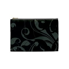 Floral Pattern Cosmetic Bag (medium)  by Valentinaart