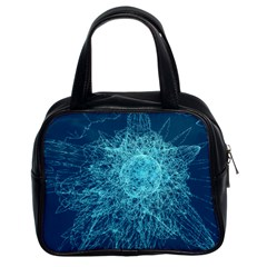 Shattered Glass Classic Handbags (2 Sides) by linceazul