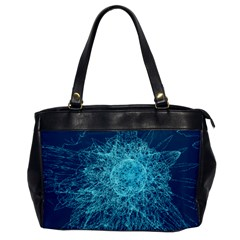 Shattered Glass Office Handbags by linceazul