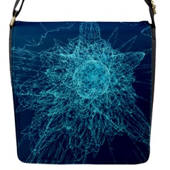 Shattered Glass Flap Messenger Bag (s) by linceazul