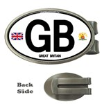 GB - Great Britain Euro Oval Money Clip (Oval)