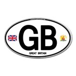 GB - Great Britain Euro Oval Magnet (Oval)