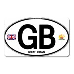 GB - Great Britain Euro Oval Magnet (Rectangular)