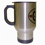 GB - Great Britain Euro Oval Travel Mug (Silver Gray)