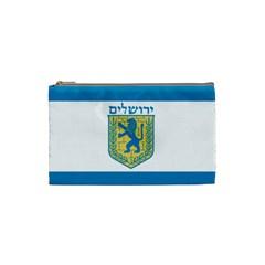 Flag Of Jerusalem Cosmetic Bag (small)  by abbeyz71