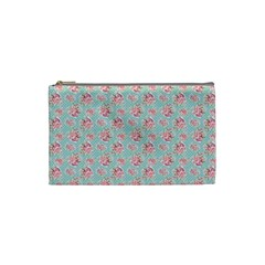 Floral Pattern Cosmetic Bag (small)  by Valentinaart