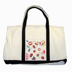 Hand Painted Summer Background  Two Tone Tote Bag by TastefulDesigns