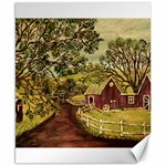 Old Red Barn By Ave Hurley - Canvas 8  x 10