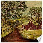 Old Red Barn By Ave Hurley - Canvas 12  x 12