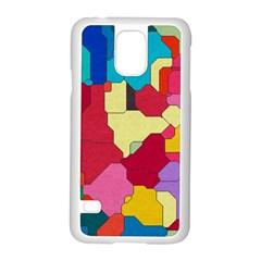 Colorful Leather Pieces       Motorola Moto G (1st Generation) Hardshell Case by LalyLauraFLM