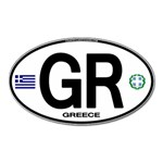 GR - Greece Euro Oval Magnet (Oval)