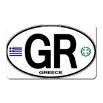GR - Greece Euro Oval Magnet (Rectangular)