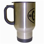 GR - Greece Euro Oval Travel Mug (Silver Gray)