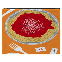 Instant Noodles Mie Sauce Tomato Red Orange Knife Fox Food Pasta Cosmetic Bag (xxxl)  by Mariart