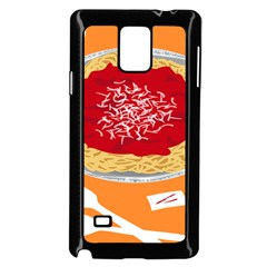 Instant Noodles Mie Sauce Tomato Red Orange Knife Fox Food Pasta Samsung Galaxy Note 4 Case (black) by Mariart