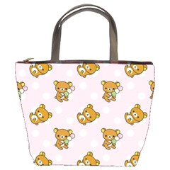Kawaii Bear Pattern Bucket Bags by Nexatart
