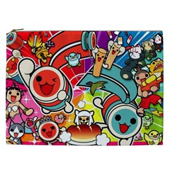 Cute Doodles Wallpaper Background Cosmetic Bag (xxl)  by Nexatart