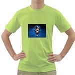 Blue Skull Bones Punk Goth Fantasy Green T-Shirt