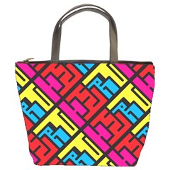 Hert Graffiti Pattern Bucket Bags by Nexatart