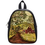 Old Red Barn By Ave Hurley - School Bag (Small)