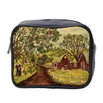Old Red Barn By Ave Hurley - Mini Toiletries Bag (Two Sides)