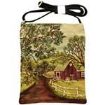 Old Red Barn By Ave Hurley - Shoulder Sling Bag