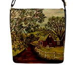 Old Red Barn By Ave Hurley - Flap Closure Messenger Bag (L)