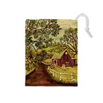 Old Red Barn By Ave Hurley - Drawstring Pouch (Medium)