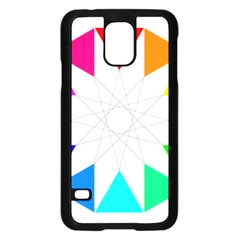 Rainbow Dodecagon And Black Dodecagram Samsung Galaxy S5 Case (black) by Nexatart