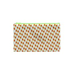 Candy Corn Seamless Pattern Cosmetic Bag (xs) by Nexatart