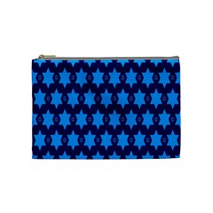 Star Blue Space Wave Chevron Sky Cosmetic Bag (medium)  by Mariart