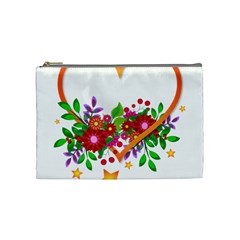 Heart Flowers Sign Cosmetic Bag (medium)